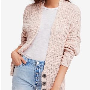 Free People Sweater Cotton Blend Rose XS